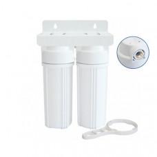 Συσκευή Φίλτρου Νερού Κάτω του Πάγκου LOTUS DUO 10'' Διπλή με Ορειχάλκινο Σπείρωμα 1/2''