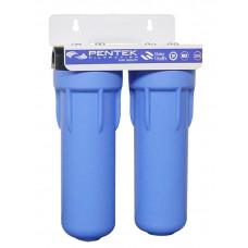Συσκευή Φίλτρου Νερού PENTEK 3GSL DUO 10'' Διπλό Κάτω του Πάγκου Μπλέ 1/2''