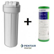 Σετ Συσκευής με Φίλτρo Κάτω Πάγκου: PENTEK 10'' + Φίλτρο Συμπαγούς Ενεργού Άνθρακα Pentek CBR2 0,5μm
