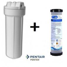 Σετ Συσκευής με Φίλτρo Κάτω Πάγκου: PENTEK 10'' + Φίλτρο Συμπαγούς Ενεργού Άνθρακα Matrikx PB1 0,5μm