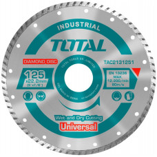 TOTAL TAC2131251 ΔΙΑΜΑΝΤΟΔΙΣΚΟΣ UNIVERSAL TURBO 125 Χ 22.2mm
